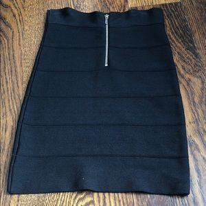Bebe black bandage skirt pencil Small petite or xs